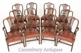 Antique Hepplewhite Dining Chairs - Set 12 Mahogany Chair ... 4 Hepplewhite Style Mahogany Yellow Floral Upholstered Ding Chairs Style Ding Table And Chairs Pair George Iii Mahogany Armchairs Antique Set Of 8 English Georgian 12 19th Century Elegant Mellow Edwardian Design Antiques World 79 Off Wood Hogan Side Chair Eight Late 18th Of