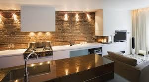kitchen astonishing cool kitchen with brick wall dazzling