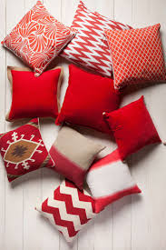 Red Decorative Pillows by Impressive Red Sofa Pillows 12 Red Throw Pillows Geometric