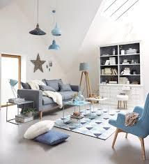 blau graue wand wohnzimmer caseconrad