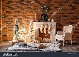 100 Brick Loft Apartments Wall Candles Christmas Stock Photo Edit Now