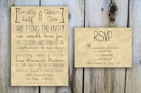 Rustic Wedding Invitations With Rsvp Cards