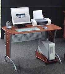 Techni Mobili Computer Desk With Side Cabinet by Space Saver Computer Desk By Techni Mobili Best Home Furniture