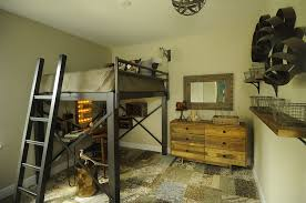 Great Ideas Of Rustic Kids Bedroom Design With Stairs