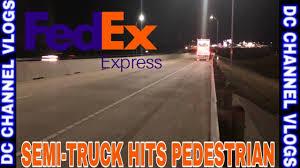 100 Texas Express Trucking FedEx SemiTruck Hits Pedestrian WB I20 ABILENE VLOG YouTube