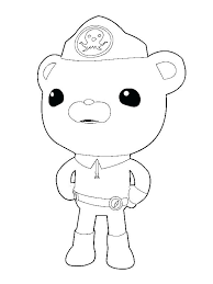 Free Printable Octonauts Coloring Pages Captain Barnacles Bear