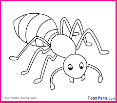 Toonpeps Free Printable Ant Coloring Pages For Kids