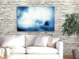 Wall Art For Large Spaces Bring Shabby Chic Flair To Your Open Space Modern Decor Blue