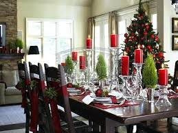 Christmas Dining Table Decorating Ideas Room Kitchen Centerpiece