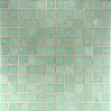celadon glass mosaic would be pretty in bathroom badrum