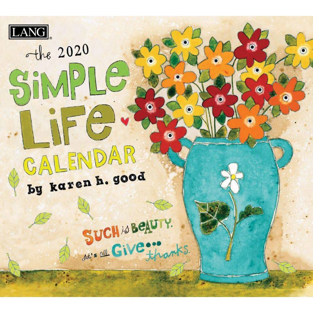 Lang Companies, 2020 Simple Life Wall Calendar