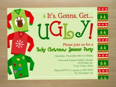 Custom Ugly Christmas Sweater Party Invitation By SquigglesDesigns 1000 Need An Uglychristmassweater Visit