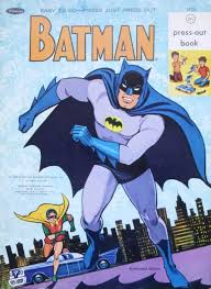 Vintage Whitman Press Batman Activity Book Ca 1967