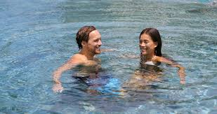 100 Infinity Swimming Honeymoon Couple Relaxing Together In An Infinity Swimming Pool In Luxury Resort Spa Retreat Beach Destination Luxurious Hotel Travel Vacation