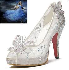 Cheap 2015 New Style Lace High Heels Crystal Wedding Shoes Thin Heel