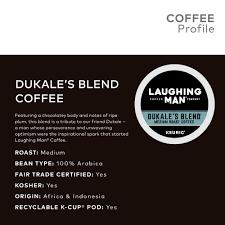 Laughing Man Dukales Blend Coffee Keurig K Cup Pods Medium Roast 16 Count