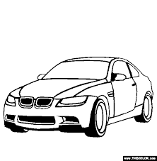 BMW M3 Coloring Page