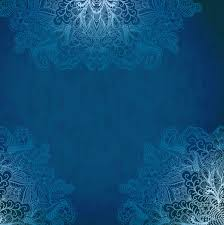 Blue Style Vintage Lace Vector Background 03
