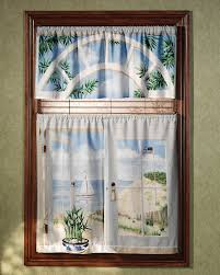 Window Art Tier Curtains And Valances by Amazon Com Saturday Knight Seashore Window Art Valance 48 X 19