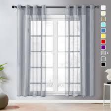 topfinel voile vorhaenge leinenstruktur mit oesen durchsichtig einfarbig fuer fenster wohnzimmer schlafzimmer moderne und elegante gardine 2er set je