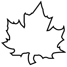 Maple Autumn Leaf Outline Coloring Page