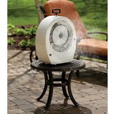 Cheap Patio Misting Fans by Hoseless Misting Tabletop Fan Craziest Gadgets