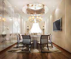 3d rendering ess set im modernen luxus esszimmer