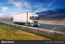 Truck Container Highway Cargo Transportation Concept Shaving Effect ...