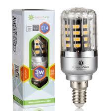 greensun led lighting e14 3w 5736 smd energy saving led corn light bul