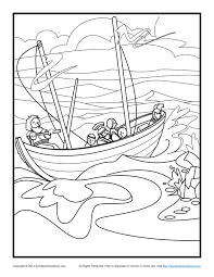 Pauls Shipwreck Bible Coloring Page