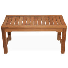 Teak Bathroom Wall Shelves by Bathroom Teak Shower Bench With Back And Arm Plus Rack On Wooden