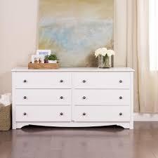 Home Depot Dresser Knobs by Prepac Monterey 6 Drawer White Dresser Wdc 6330 K The Home Depot