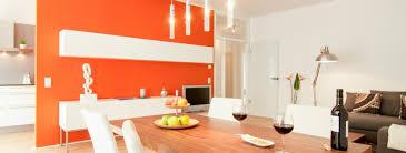 apartment wohn esszimmer wand orange immoshots de