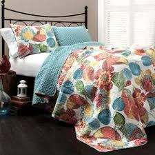 Anthology Bungalow Bedding by Chic Home Eliza Reversible Duvet Cover Set Size Queen Color