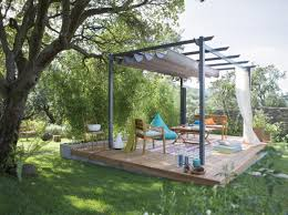 pergola sur bois leroy merlin terrace aménager