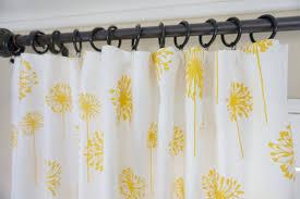 yellow window curtain yellow brown window drapes dandelion