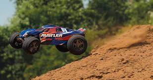 Rustler VXL: 1/10 Scale Stadium Truck With TQi Traxxas Link Enabled ... Traxxas Rustler 110 Rtr 2wd Electric Stadium Truck Rock N Roll W White Tra370541wht 370764rnrs Vxl Brushless Xl5 Battery And Nitro 25 With Tsm Blue Tra370541blue 4wd Scale Rc Car Wikipedia Traxxas Rustler Blue Brushed Tq 24
