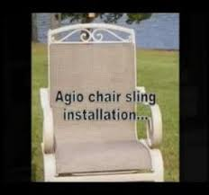 Diy Replace Patio Chair Sling by How To Install Patio Pool Furniture Fabric Sling Replacments