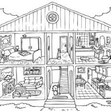 House Coloring Page Agertk