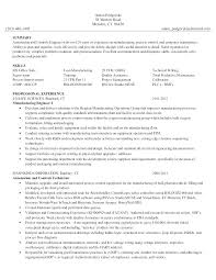Manufacturing Technician Resume Engineering Sample Beautiful