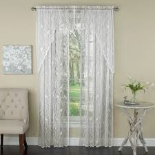 Lace Priscilla Curtains With Attached Valance by Lace Curtains Lace Panel Curtains White Lace Curtains And Valances