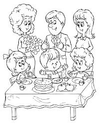 happy birthday color page party