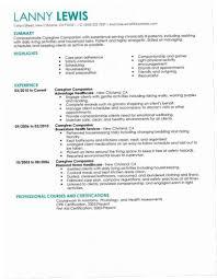 Caregiver Resume Examples OI1B Sample Samples Senior