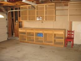 stunning garage workbench made of wood combined with upper