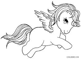 Unicorn With Wings Coloring Pages Together Printable For Kids