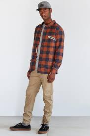 ourcaste moose flannel shirt jacket in blue for men lyst