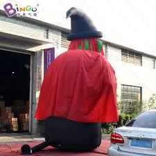 Large Blow Up Halloween Decorations by Free Shipping Halloween Decoration Inflatable Giant Witch Figure 5