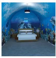 chambre dauphin 3d en trois dimensions murale papier peint dauphins marins enfants