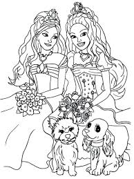 Barbie Coloring Pages Christmas Free Online Fairy