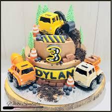 100 Construction Trucks Buttercream Cake
